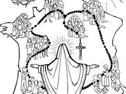 Joyful Mysteries Rosary Coloring Page Pages Pixels Free