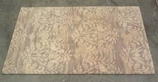 pottery barn gray bird medallion 3x5 wool rug