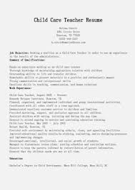 Childcare Resume Cover Letter Resume For Childcare Child Care Sample Beautiful Educator Template 8