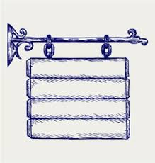 Wooden Sketch Signboard Vector Images (over 250)