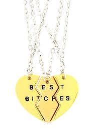 com best es heart necklace 3 pc set gold tone split f best friends three piece pendant