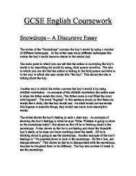 snowdrops a discursive essay gcse english marked by teachers com page 1 zoom in