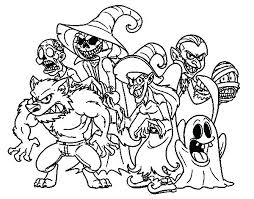Funny Monster Coloring Pages At Getdrawingscom Free For Personal