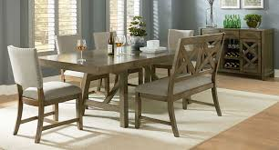 omaha dining room set w bench and upholstered chairs grey
