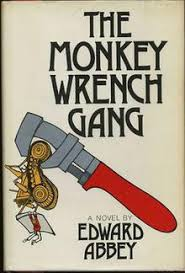 the monkey wrench gang  edwardabbey themonkeywrenchgang jpg first edition cover author edward abbey
