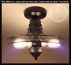 fun funky lighting. Modern Industrial Cage Ceiling Flush Mount Light Fun Funky Lighting Y