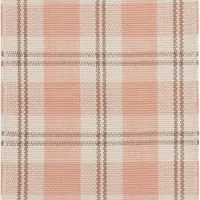 pink and brown plaid indoor outdoor rug
