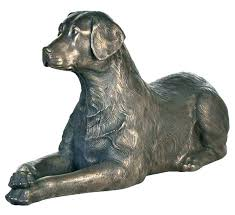chocolate lab statue garden statues full image for life size dog