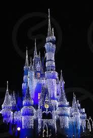 magic kingdom castle night lit