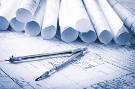 architecture blueprints. Fine Architecture Rolls Of Architecture Blueprints And House Plans On The Table Drawing  Compass Stock Photo  Intended Architecture Blueprints V