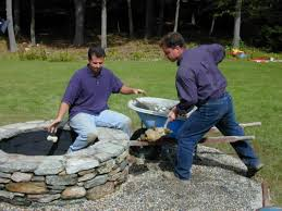 outdoor stone fire pit. Step 7 Outdoor Stone Fire Pit O