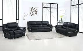 black genuine leather sofa set river power reclining toreno reviews global united 2 collection modern style