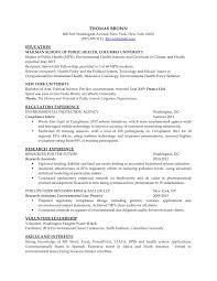 Resume Samples Mailman School Of Public Health
