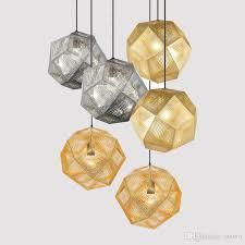 vintage industrial geometry restaurant pendant light hotel bar pendant lamps stainless steel art net hanging lighting fixtures plug in pendant lighting
