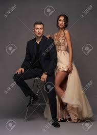 Style Studio Fashion Design School Fashion Style Studio Portrait Of Young Adult Couple Pretty Sexy