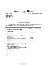 price quotation format doc price quotation format instrument commissioning engineer cover