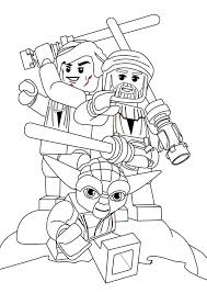 Small Picture Lego Star Wars Characters Coloring Page Download Print Online