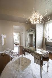 luxury home office design women. Super Elegant And Glamorous Home Office Decoration Ideas Using Glass Chandeliers White Fur Rug: Luxury Design Women T