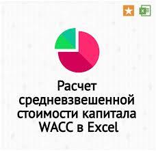 Финансовый анализ Роснефти расчет коэффициентов и моделей Расчет средневзвешенной стоимости капитала wacc в excel