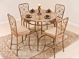 Iron Table And Chairs Set Kitchen Table Chairs Kitchen Table Sets White Marble Coffee Table