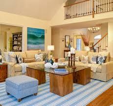 blue striped home decor beach theme rug