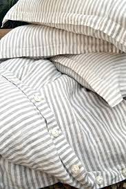 ticking comforter pinstriped linen duvet cover gray and white stripes stonewashed ticking stripe comforter red ticking
