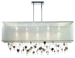 rectangular glass chandelier modern rectangular glass chandelier unique contemporary dining room all retro odeon glass fringe
