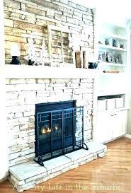 fake fireplace ideas faux stone rock diy