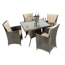 club 1m square table 4 dining chairs brown