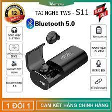 Tai Nghe Bluetooth 5.0 TWS S11 - Chống Nước IPX5 - Pin 4800 - Tích Hợp  Micro -Tự Động Kết Nối -Chống ồn CVC 8.0