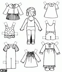 Small Picture meisje met kleding Aankleedpoppen Paper dolls Pinterest