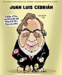 Resultado de imagen de JUAN LUIS CEBRIAN CARICATURA
