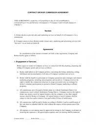 Commission Sales Agreement Free Commission Sales Agreement Template 1