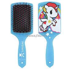 unicorn hair brushes. tokidoki unicorno unicorn white pony horse glitter large paddle hair brush new brushes