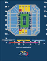 New Louis Armstrong Stadium Seating Chart Seating Maps Open Tennis