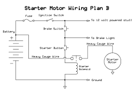 how to wire a push button starter atvconnection com atv here is basic diagram for the starting system on your quad