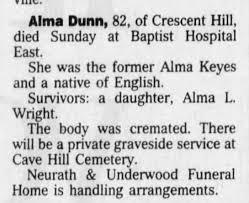 Alma Keyes Obituary. - Newspapers.com