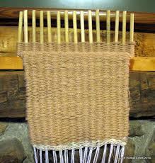 making rag rugs on a loom