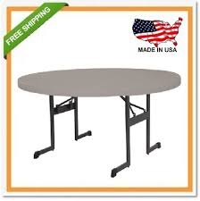 lifetime s 80125 professional round folding table 5 putty for