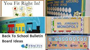 Back To School Bulletin Board Ideas For 2019 Fractus Learning
