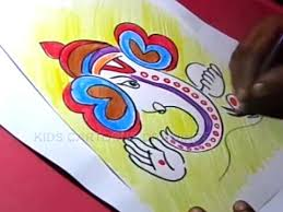 How To Draw Simple Ganesha Drawing For Kids