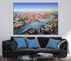 large canvas print london city aerial view united kingdom the river thames canvas large canvas printsriver  on large multi panel canvas wall art with large deer photography multi panel canvas print ready to hang wild