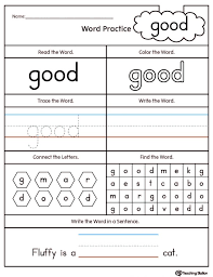 28 Collection Of Kindergarten Sight Word Coloring Pages High ...