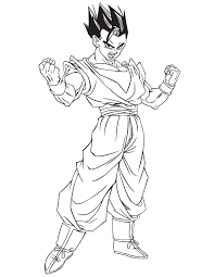 Small Picture Dragon Ball Z Mystic Gohan Coloring Page H M Coloring Pages