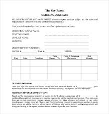 Catering Contract Templates Fun Templates For Word Awesome