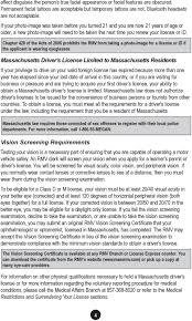 Massachusetts Rmv Eye Chart A Message To Massachusetts Motorists From Erin C Deveney