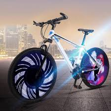 DIY Bicycle Light 64 LED <b>Bicycle Wheel Spoke Light</b> Waterproof ...
