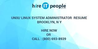 Administrator Resume Examples Unix Linux Administrator Resume Sample System Admin Orlandomoving Co