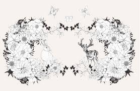 花と動物を彩るコラージュぬりえ 森のなかへ ディジーフレッチャー