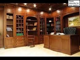 bookshelves with glass doors wall